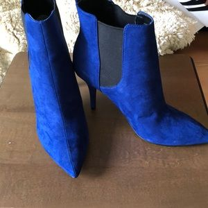 Fabric pointed toe ankle boots